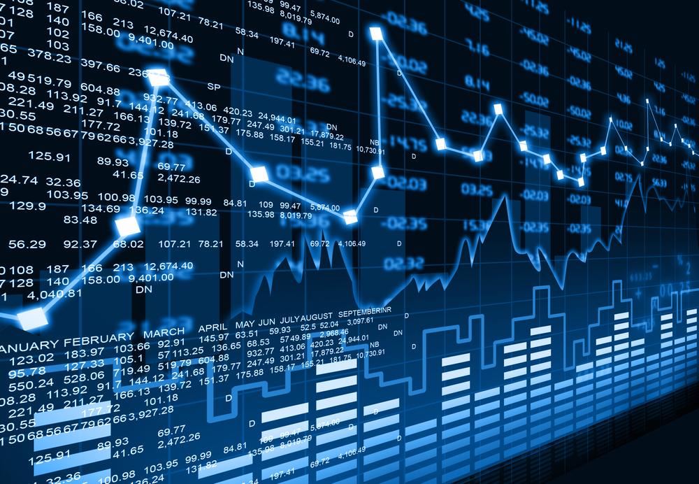 Die Aktienkurse an der Börse verlaufen schwankend