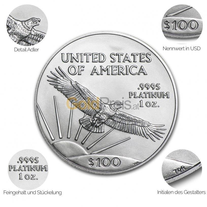 Platinmünze American Platinum Eagle - Details des Avers