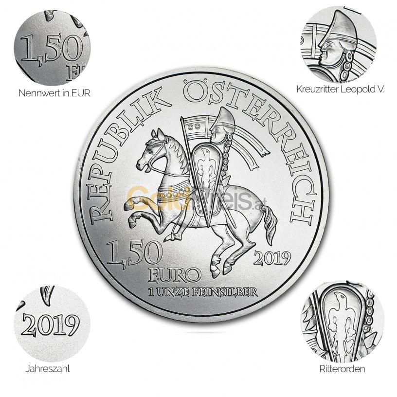 Silbermünze 825 Jahre Münze Wien - Details des Avers