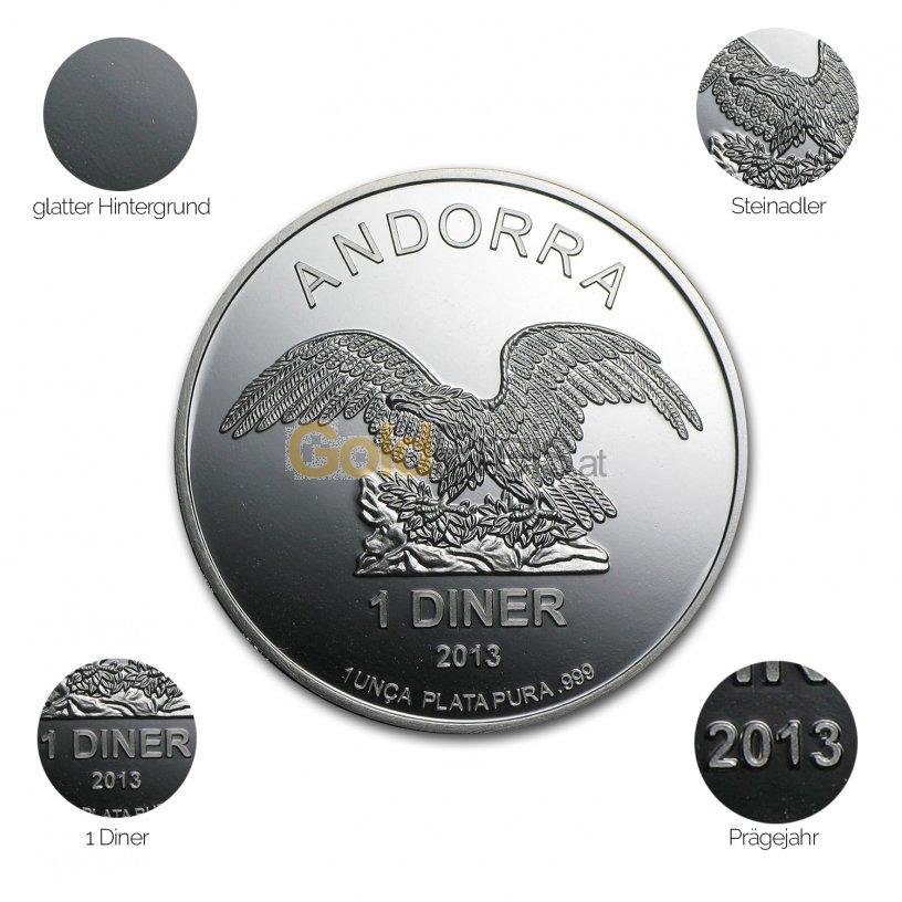 Silbermünze Andorra Eagle - Details des Revers