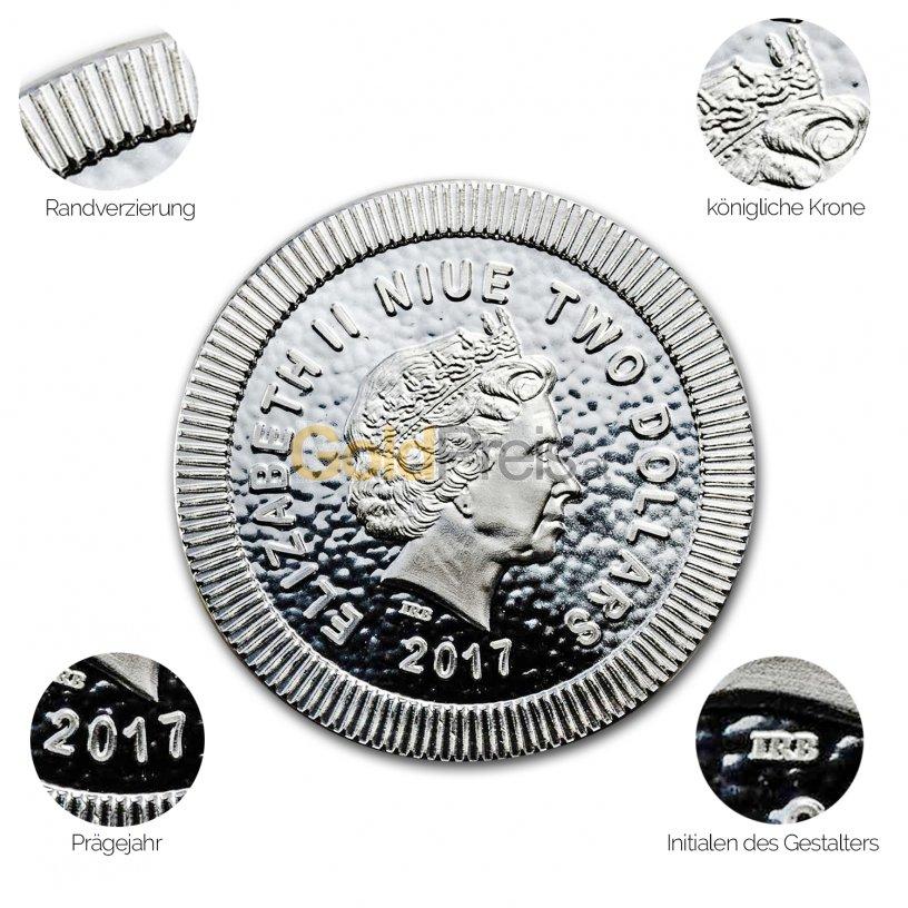 Silbermünze Eule von Athen - Details des Avers