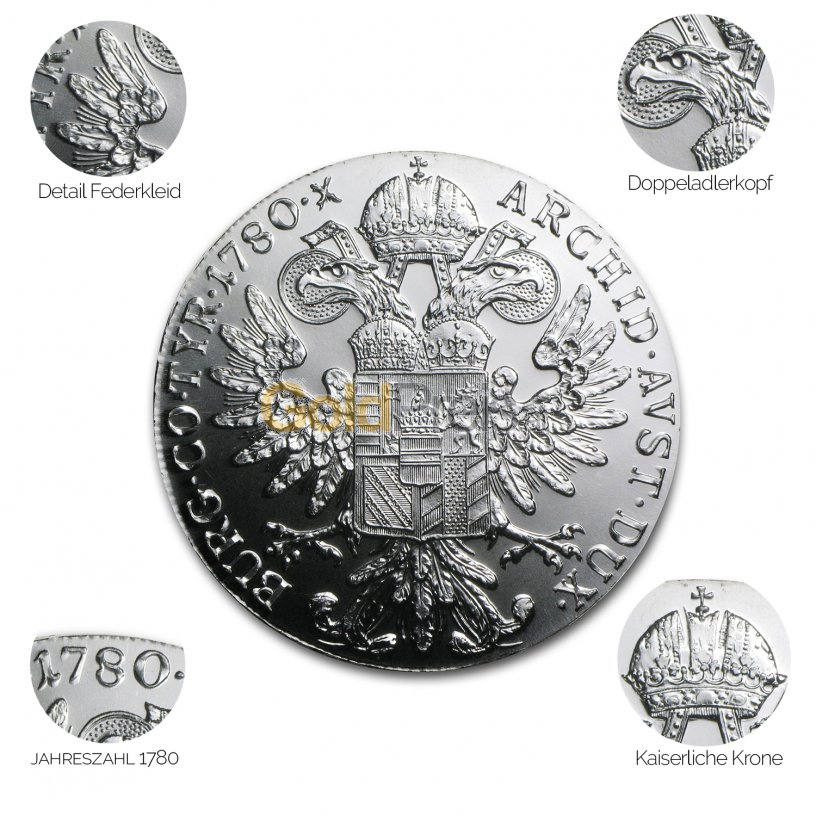 Silbermünze Maria Theresien Taler - Details des Revers