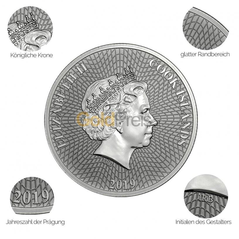 Silbermünze Silver Star - Details des Avers