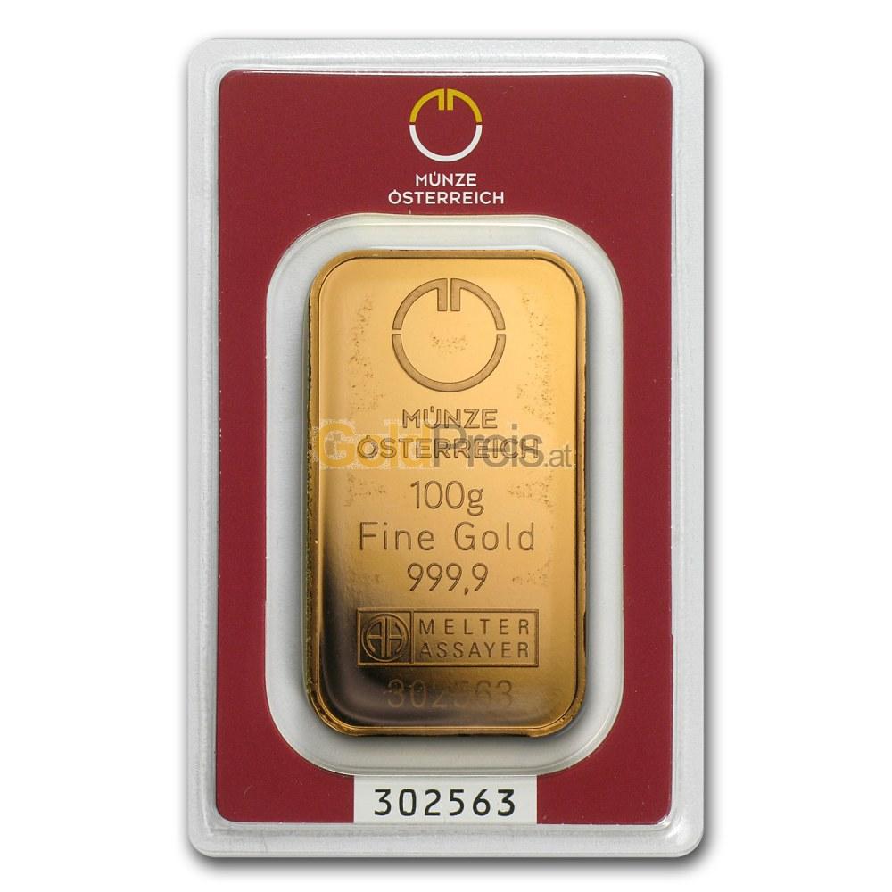 Goldbarren Preisvergleich 100 Gramm Gold Kaufen