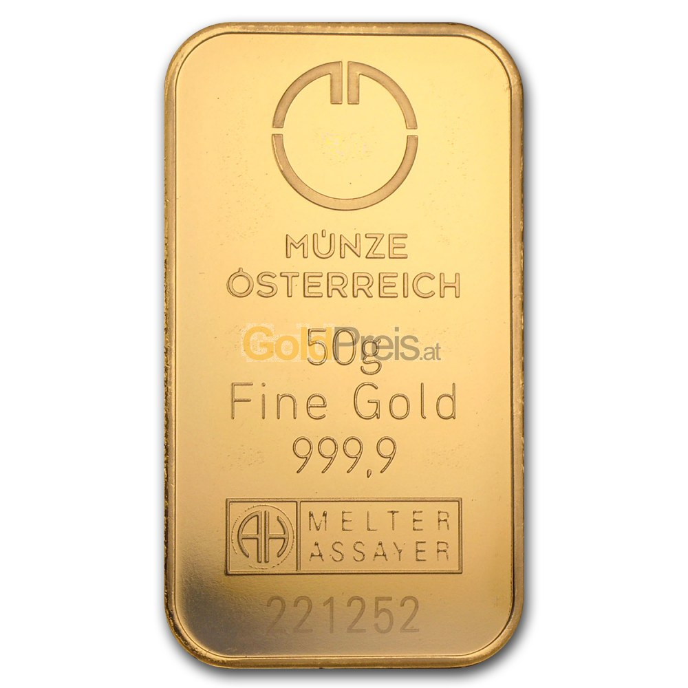 Goldbarren Preisvergleich 50 Gramm Gold Kaufen