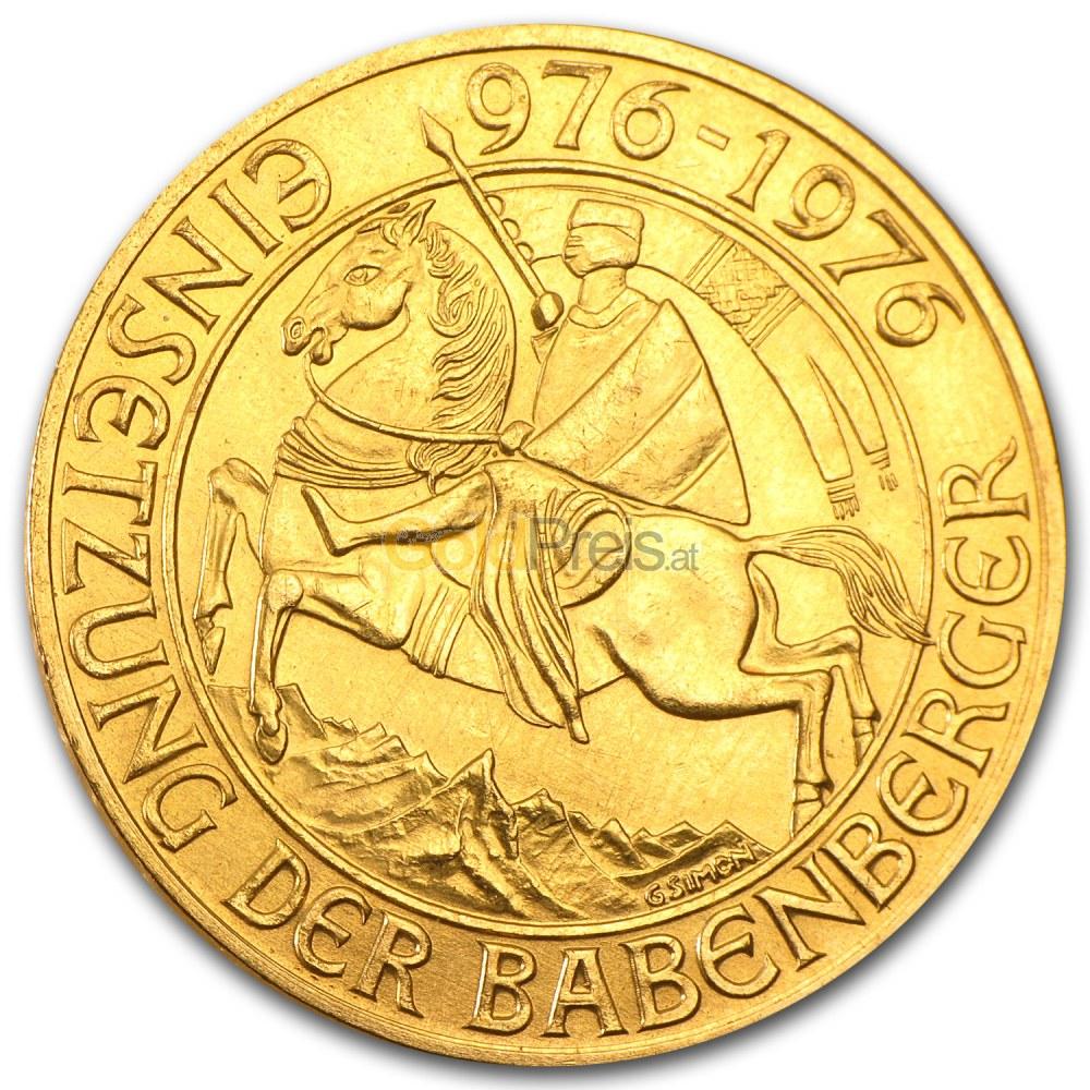 Babenberger 1000 Schilling Goldmünze Kaufen Preisvergleich Auf