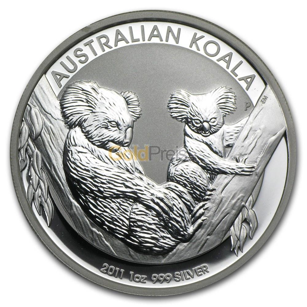 Koala Silber Preisvergleich Silberm 252 Nzen G 252 Nstig Kaufen