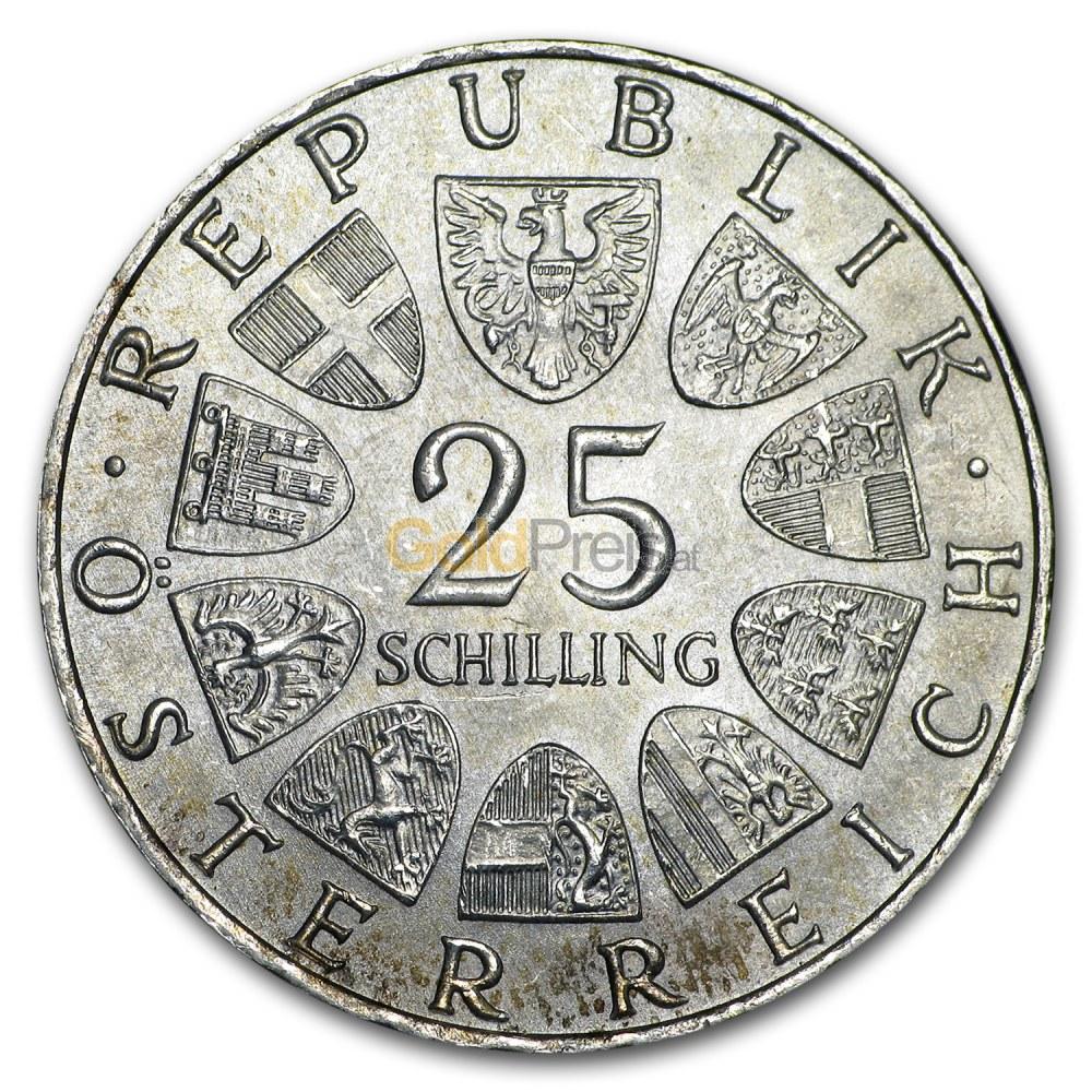 Schilling österreich Silber Preisvergleich Silbermünzen Günstig Kaufen
