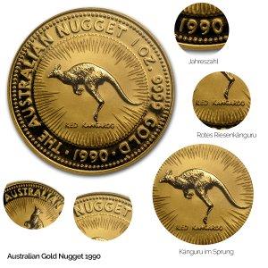 Australian Nugget Gold 1990
