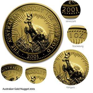 Australian Nugget Gold 2001