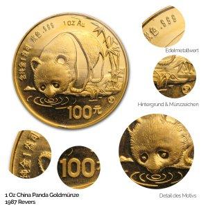 China Panda Gold 1987