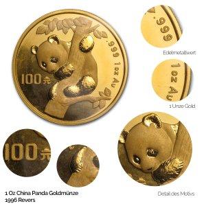 China Panda Gold 1996