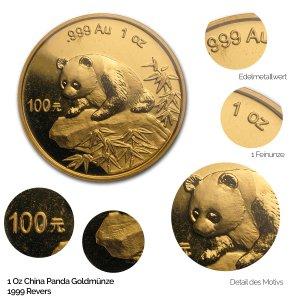 China Panda Gold 1999