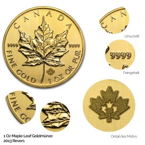 Maple Leaf Gold Revers 2013