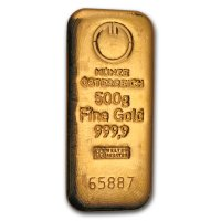 Gold 500 g Goldbarren