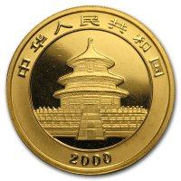China Panda Gold Avers 2000