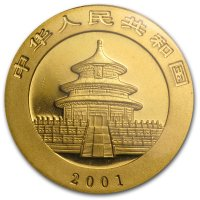 China Panda Gold Avers 2001