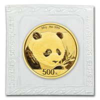 China Panda Gold in Folie