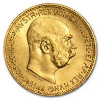 Nachprägung 20 Kronen Goldmünze Revers