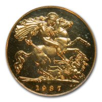 Gold Sovereign von 1936-1952 - Georg V I- Revers