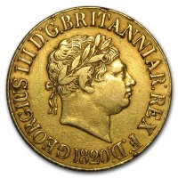 Gold Sovereign von 1817-1820 - Georg III - Avers
