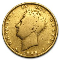 Gold Sovereign von 1826 - Avers