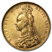 Gold Sovereign von 1887-1892 - Victoria - Avers