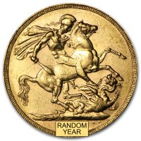 Gold Sovereign von 1887-1892 - Victoria - Revers