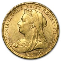 Gold Sovereign von 1893-1901 - Victoria Old Head - Avers