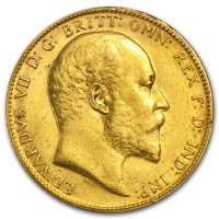 Gold Sovereign von 1908-1910 - Edward VII - Avers