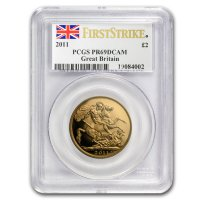 Double Sovereign von 2011 im PCGS Slab
